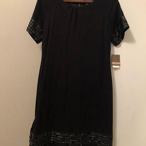 Black above knee dress
